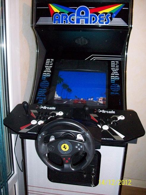 borne arcade avec volant